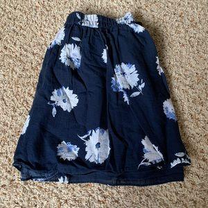 Dark blue floral skirt